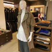 『blurhms Chambray Gabardine Big Trench Coat』
