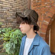 『Hender Scheme nylon kinchaku hat』